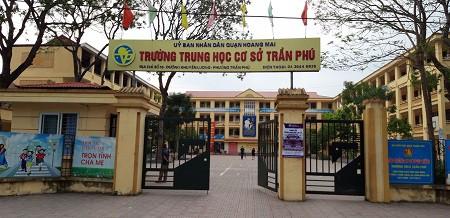 Trường THCS Trần Phú (Hoàng Mai, Hà Nội). Ảnh: Q.Anh