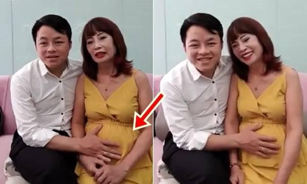 Cặp vợ chồng đũa lệch Thu Sao - Hoa Cương đang thu hút sự chú ý của cộng đồng mạng khi tiết lộ chuyện có bầu. Ảnh: Internet