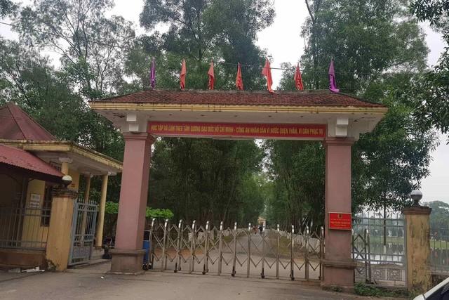 Trai giam Xuân Hà nơi xảy ra vụ việc.