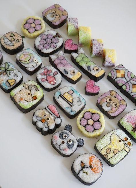Các bé hẳn sẽ thích mê với những miếng sushi xinh xắn và ngộ nghĩnh này đấy!