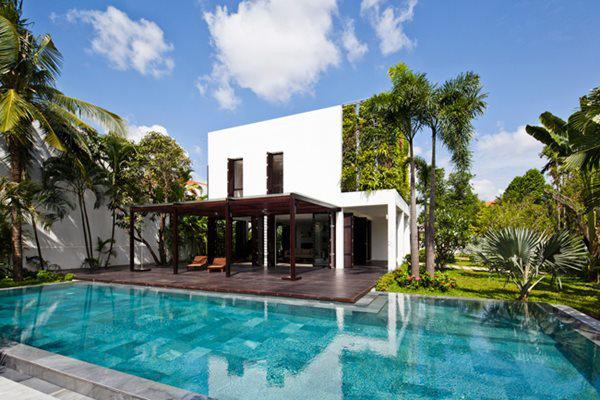 """Đây là một căn biệt thự nằm ở """"khu nhà giàu"""" Thảo Điền, thuộc quận 2, thành phố Hồ Chí Minh."""