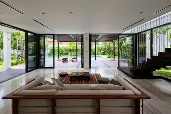 Kiến trúc xanh giúp không gian sống trong lành, thoáng đãng.