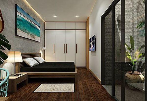 Nội thất phòng ngủ được thiết kế riêng phù hợp với kích thước không gian nhà.