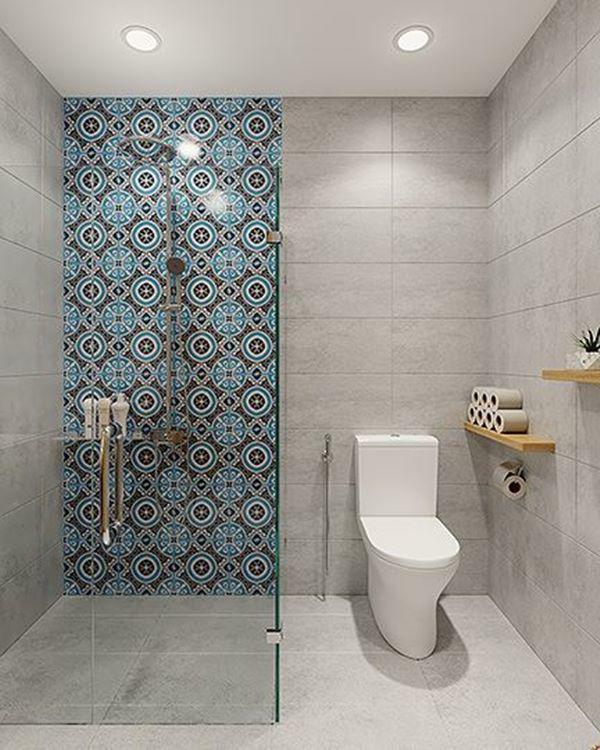 Khu vực vệ sinh với thiết kế đơn giản.