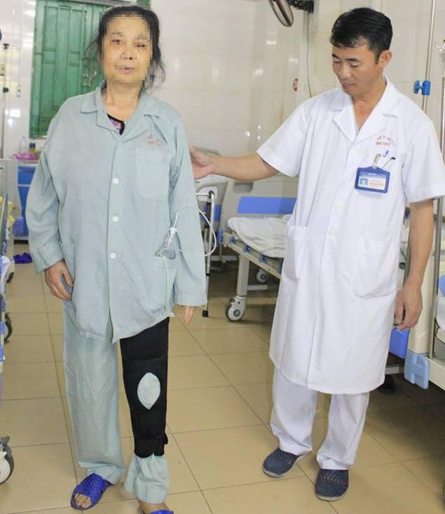 Bệnh nhân hồi phục và có thể tập đi lại sau 4 ngày mổ,