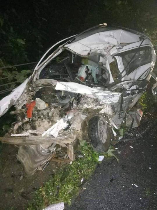 Hiện trường vụ tai nạn giao thông. Ảnh: PS.