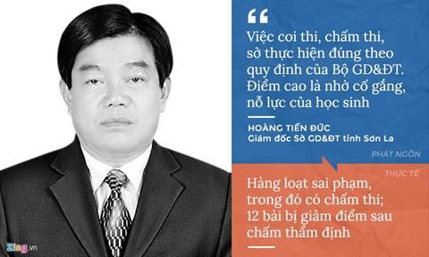 Trước khi bị phanh phui gian lận, lãnh đạo ở các tỉnh Hà Giang, Sơn La, Hòa Bình có những phát ngôn trái ngược thực tế. Kết quả điều tra ban đầu sau khi vụ việc được phát hiện năm 2018 là 12 bài thi ở Sơn La giảm điểm sau chấm thấm định. Nhưng theo công bố mới nhất của Bộ GD&ĐT hồi tháng ba vừa qua, 44 thí sinh ở Sơn La được nâng điểm thi. Ảnh: Phượng Nguyễn.