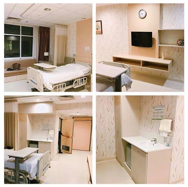 Tiến Dũng chi 2,9 triệu đồng một đêm để thuê căn phòng hạng deluxe ở bệnh viện phụ sản cho Trang Linh nghỉ ngơi sau sinh.