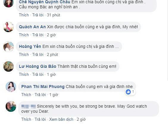 Loạt sao Việt gửi lời chia buồn đến gia đình Diễm My 9x