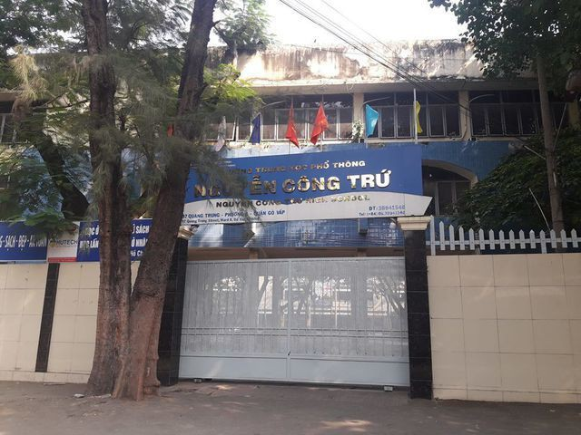 Trường THPT Nguyễn Công Trứ, TPHCM (Ảnh: Hoài Nam)