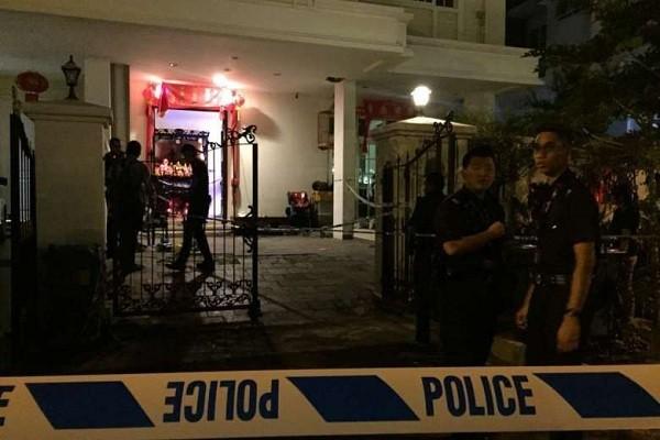Căn nhà xảy ra án mạng. (Ảnh: Straits Times)