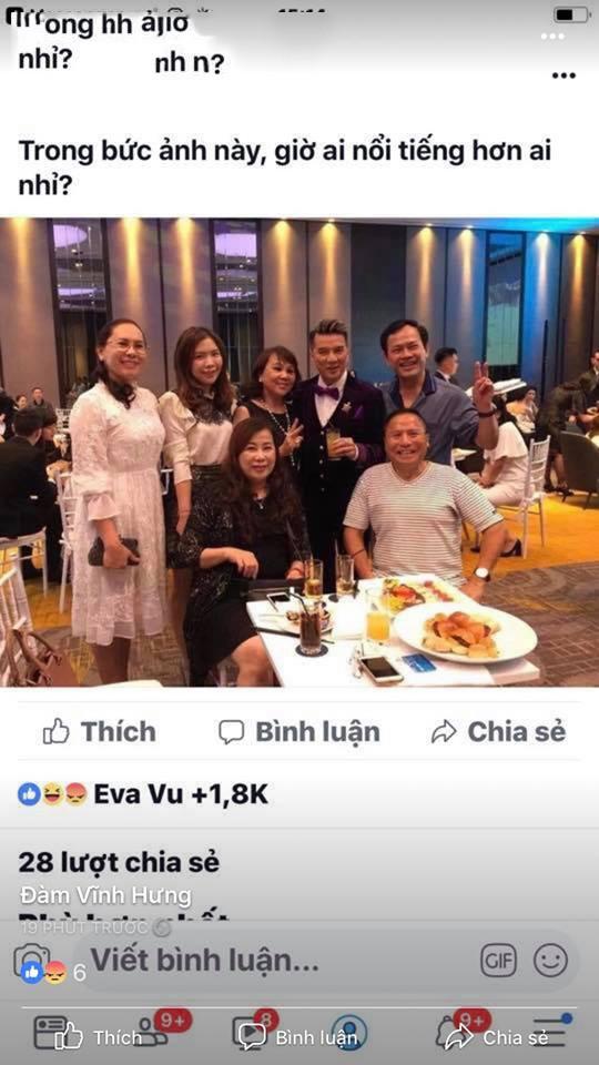 Tài khoản Lê Hoài Anh đăng bức hình có Đàm Vĩnh Hưng và Nguyễn Hữu Linh.