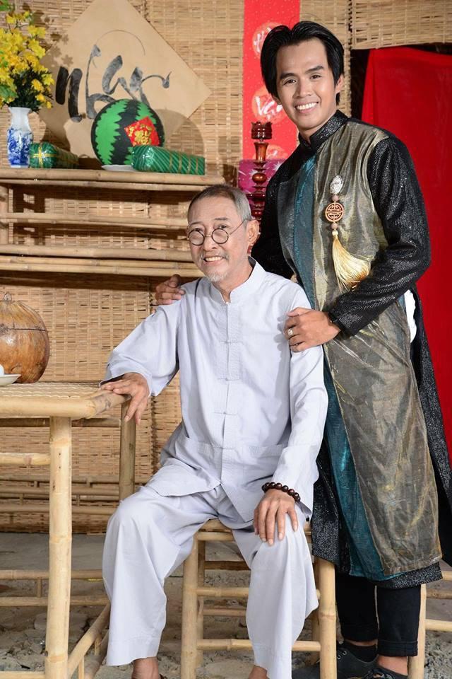 Nghệ sĩ Lê Bình và con nuôi là diễn viên Phan Vũ