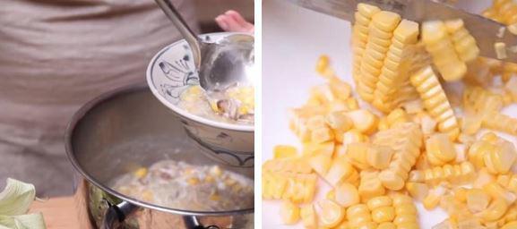 Bước 5: Múc súp ra bát, rắc ngò lên trên và thưởng thức khi còn nóng.