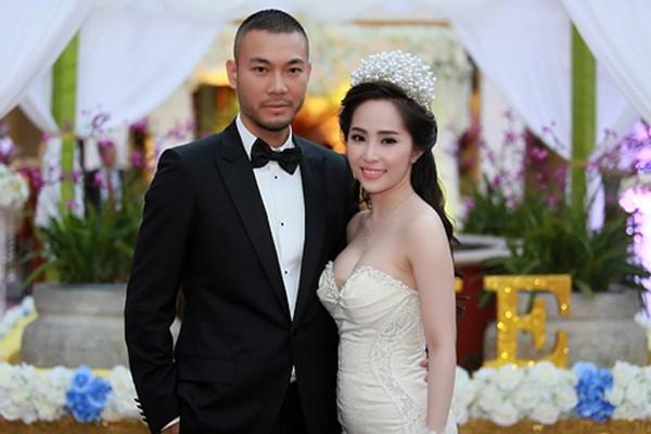 Quỳnh Nga cưới siêu mẫu Doãn Tuấn năm 2014.