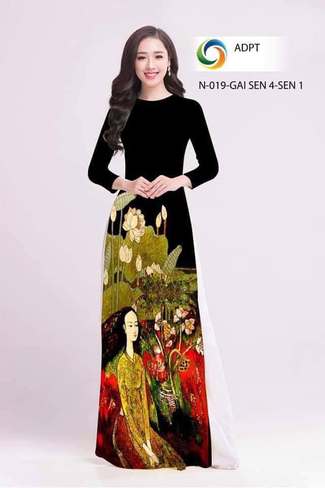 Một trong nhiều bức tranh của họa sĩ Dư bị in lên áo dài khi chưa xin phép
