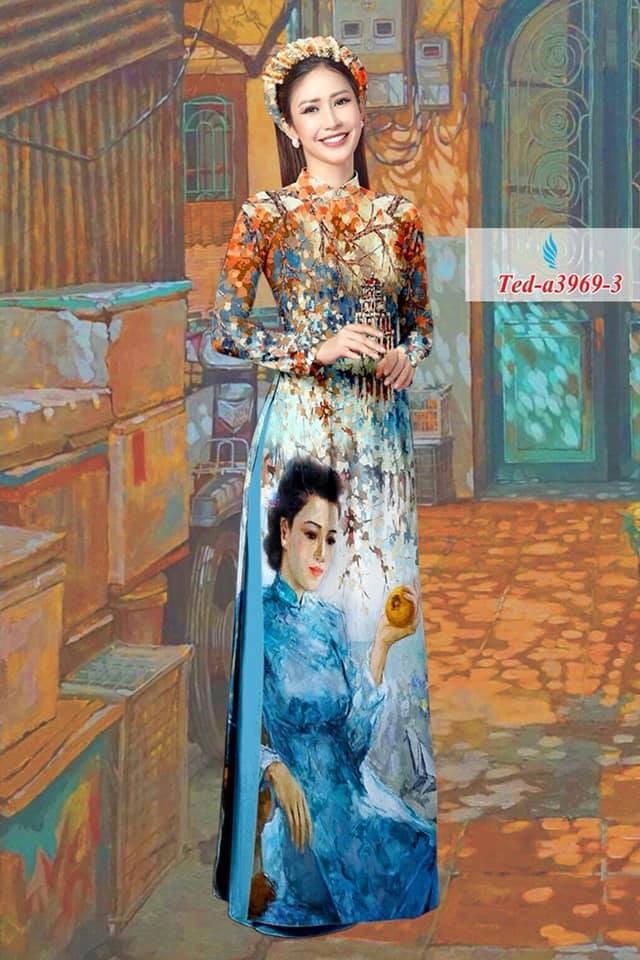 Tranh họa sĩ Lâm Đức Mạnh in lên áo dài
