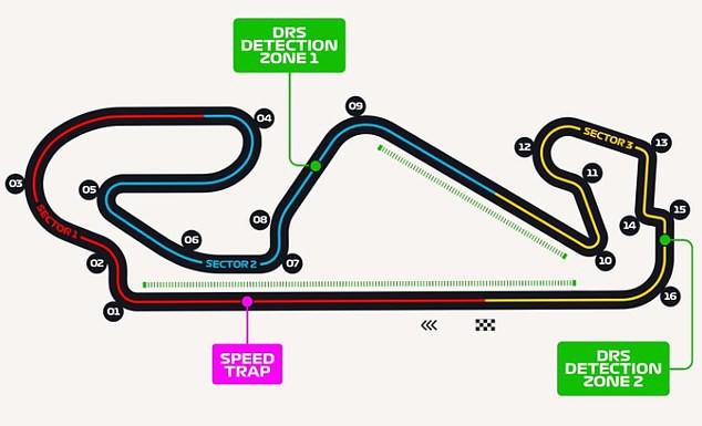 Bản đồ đường đua Circuit de Barcelona-Catalunya.