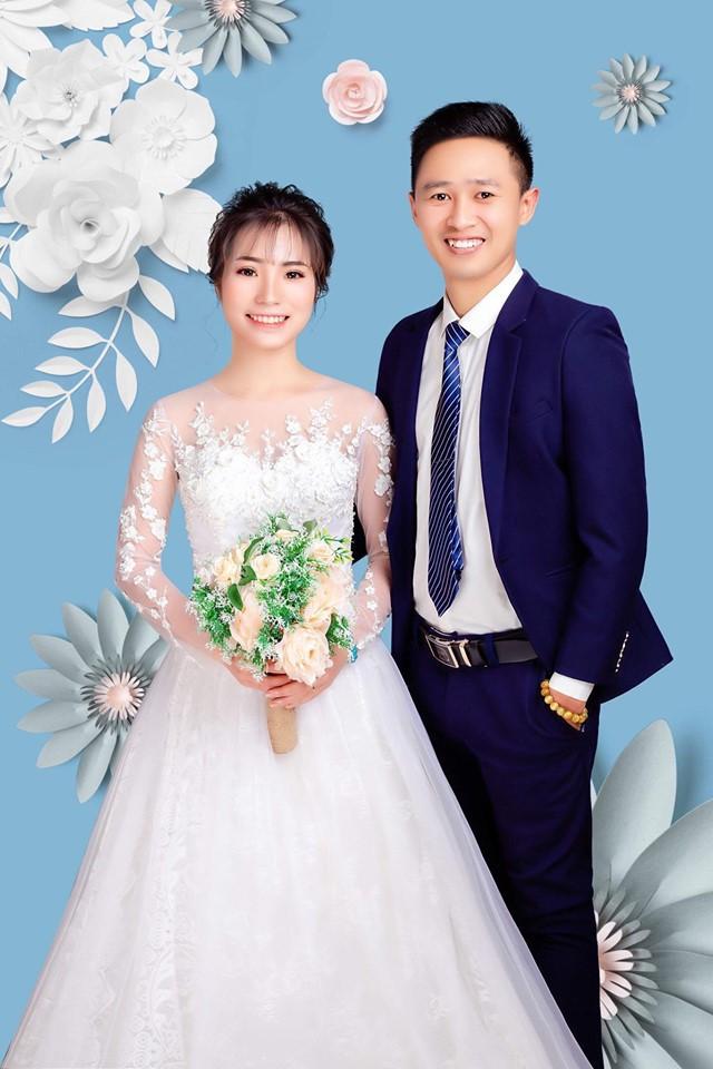 Do thời gian quá gấp gáp, đây là tấm ảnh cưới duy nhất Thuỳ và chồng chụp để chuẩn bị cho đám cưới.