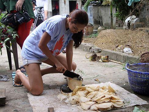 Ở Việt Nam, thân chuối thường bị chặt bỏ hoặc dùng để cho lợn hoặc gà ăn. Ảnh minh họa