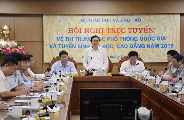 Bộ trưởng Bộ GD&ĐT Phùng Xuân Nhạ phát biểu tại Hội nghị. Ảnh: Bộ GD&ĐT