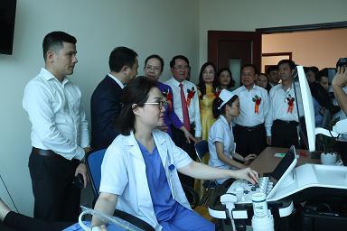 Phòng siêu âm 5D của Trung tâm sơ sinh (Ảnh ANHP)