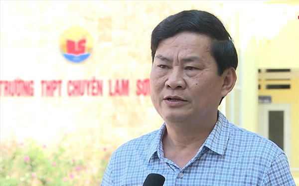 Ông Chu Anh Tuấn, Hiệu trưởng THPT chuyên Lam Sơn. Ảnh: Lam Sơn.