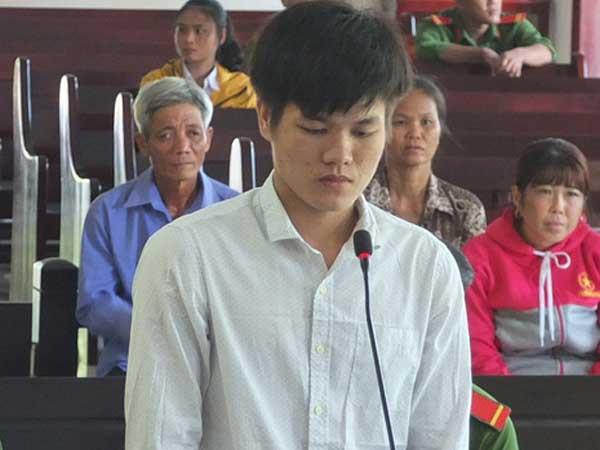 Bị cáo Dương Văn Vũ Linh tại phiên tòa