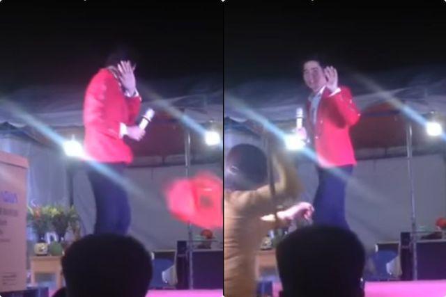 Nam ca sĩ bị khán giả tạt nước, đuổi đánh vì đến trễ buổi diễn tại Bình Dương.