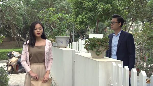 Tiến Lộc và Thu Quỳnh trong một phân cảnh phim Về nhà đi con.