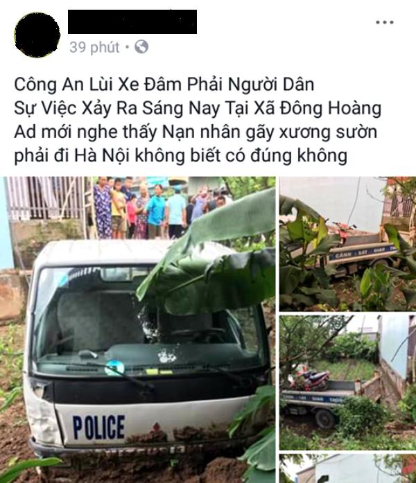 Hình ảnh vụ tai nạn được bạn đọc chia sẻ trên mạng xã hội