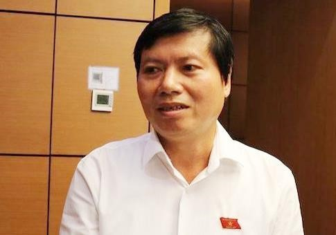 Phó bí thư thường trực Tỉnh ủy Hòa Bình Trần Đăng Ninh trao đổi với báo chí bên lề Kỳ họp thứ bảy - Quốc hội khóa XIV. Ảnh: Vietnam+.