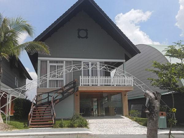Căn villa mà nhóm nghi can thuê trong một khu du lịch ở Bà Rịa-Vũng Tàu