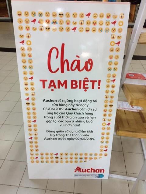 Auchan để lại ấn tượng đẹp khi nhắc khách hàng thân thiết sử dụng hết điểm tích lũy trong thẻ thành viên. Ảnh: FB My Truong.