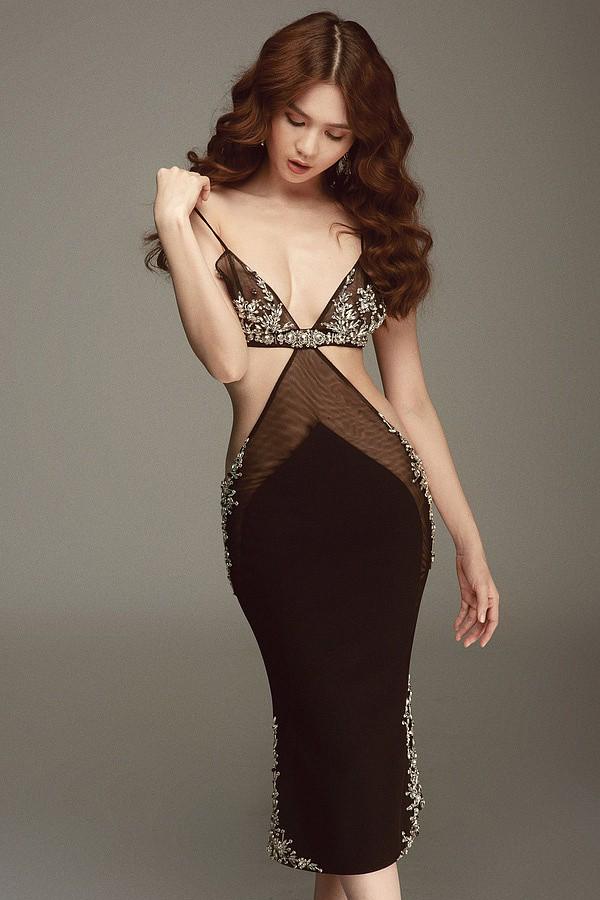 Trước đó, diện một thiết kế như váy ngủ, công chúng đã bình luận Trinh ơi, vòng 1 đâu rồi