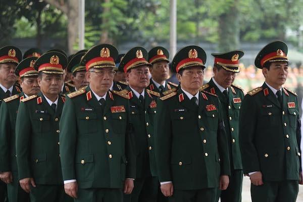 Đoàn Quân uỷ Trung ương, Bộ Quốc phòng tại lễ viếng. Ảnh: VNE