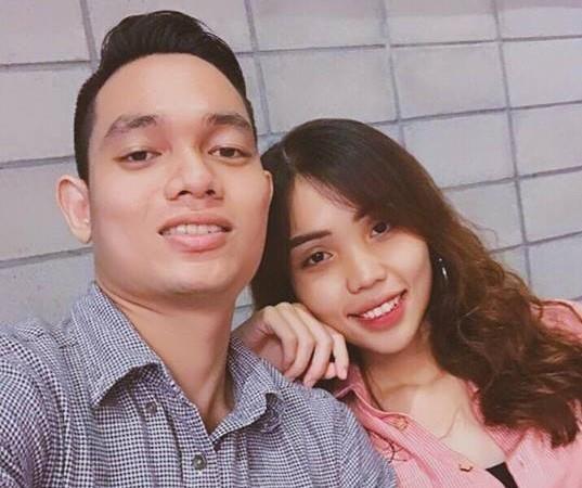 Nguyễn Trương Nam Hải và  Lê Thị Lan Vy lúc còn yêu nhau. Ảnh: FBNV