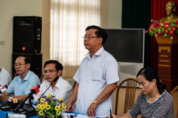 Ông Phạm Văn Thủy - Phó chủ tịch UBND tỉnh Sơn La, trong buổi cung cấp thông tin cho báo chí tháng 7/2018. Ảnh: Vũ Tuấn