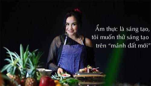 Thanh Lam chia sẻ, chị là người thích chinh phục những điều mới mẻ, tạo ra những món ăn ngon với nhiều hương liệu ngon, bổ dưỡng cùng cách trình bày lạ mắt.