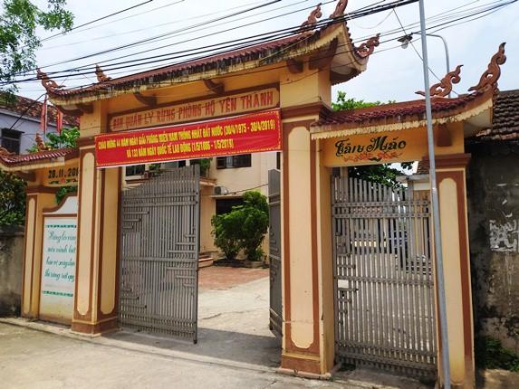 Trụ sở Ban quản lý rừng phòng hộ huyện Yên Thành nơi xảy ra sự việc.