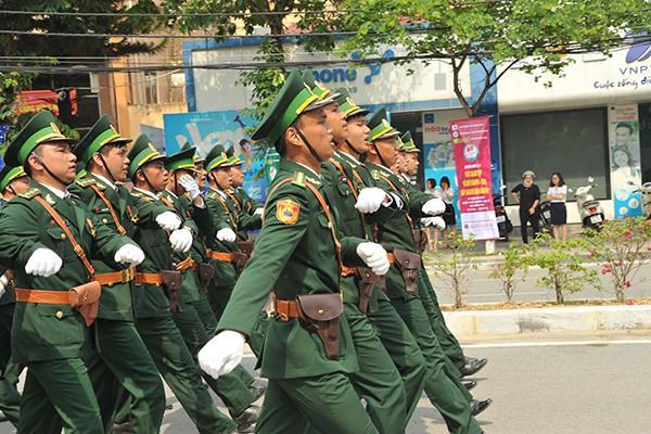 Khối sĩ quan Bộ chỉ huy Bộ đội biên phòng tỉnh Điện Biên.