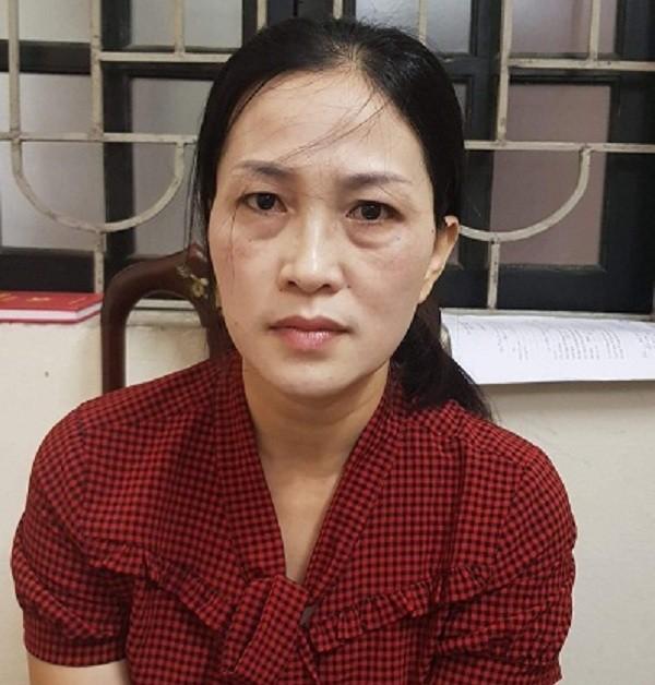 Đối tượng Lê Thị Thanh Hà tại cơ quan điều tra. Ảnh: CATPHT