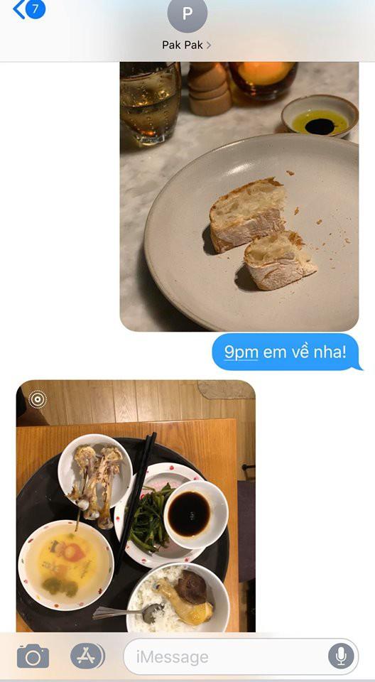 Phạm Anh Khoa nhắn tin hỏi vợ cách nấu thức ăn cho các con
