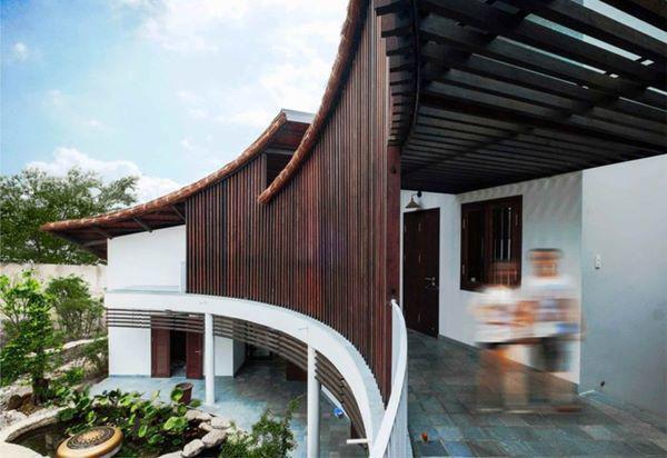 Ngôi nhà như ôm trọn thiên nhiên vào lòng