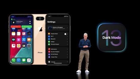 iOS 13 đi kèm với tính năng Dark Mode. Ảnh: iTechAwan.