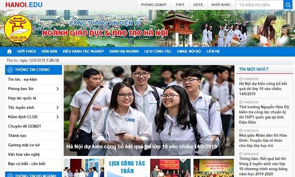 Phụ huynh, thí sinh có thể truy cập vào website của Sở GD&ĐT Hà Nội để tra cứu điểm thi vào lớp 10.