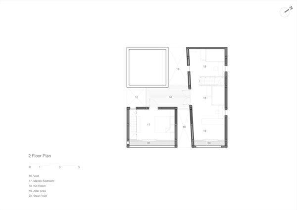 Sơ đồ thiết kế các khối của ngôi nhà