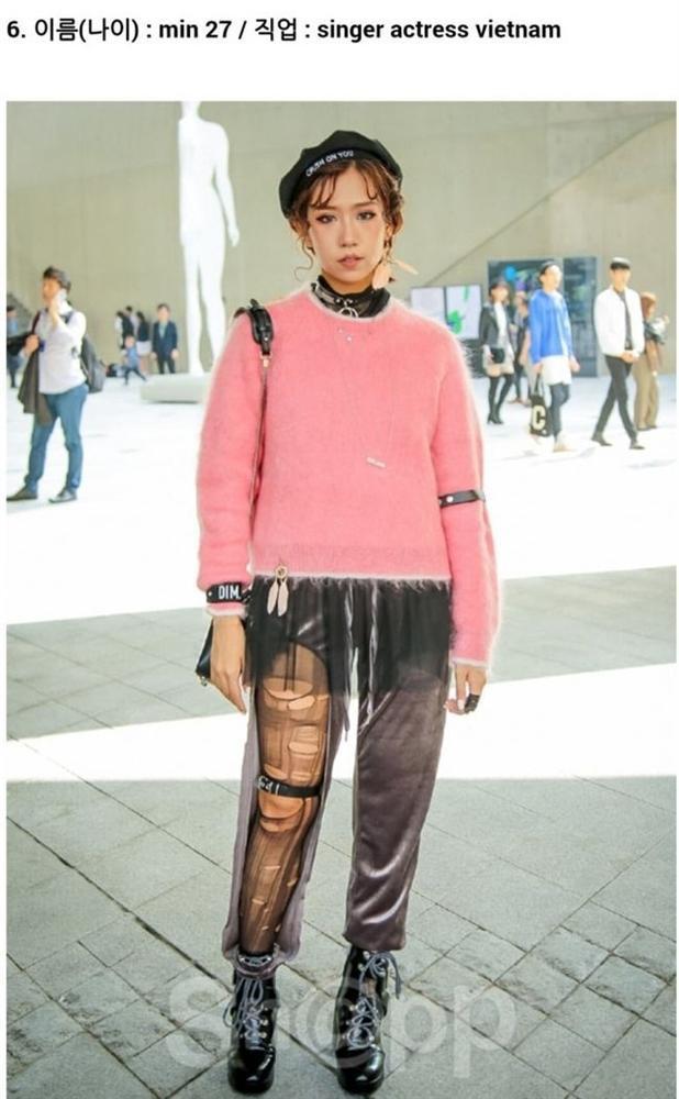Min xuất hiện trên một trang tin điện tử của Hàn Quốc khi diện một chiếc quần khó hiểu lại mix áo rườm rà, sến sẩm.
