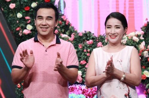 Cát Tường (phải) là gương mặt được yêu thích trong show Bạn muốn hẹn hò, bên cạnh diễn viên Quyền Linh.