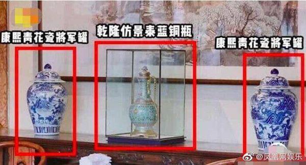 Bên trong nhà có nhiều đồ cổ từ đời Khang Hy, Càn Long.
